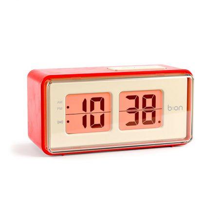 Reloj Despertador Flip LCD rojo
