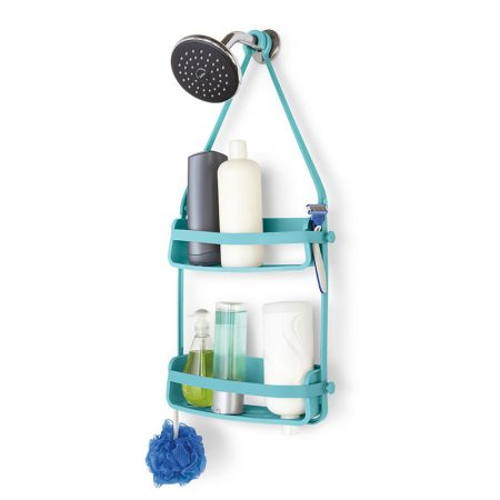 Estanteria flex doble ducha azul