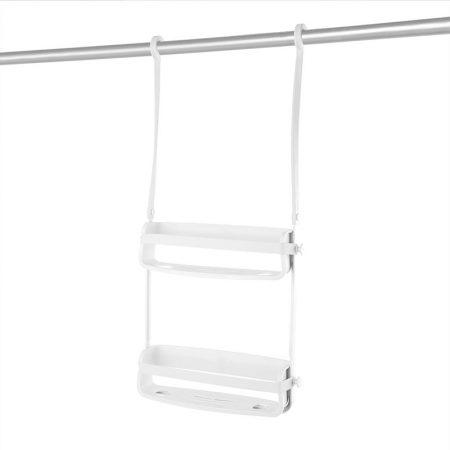 Estanteria doble ducha flex blanco