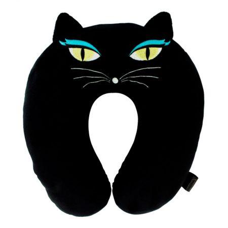 Almohada de viaje gato negro Pylones
