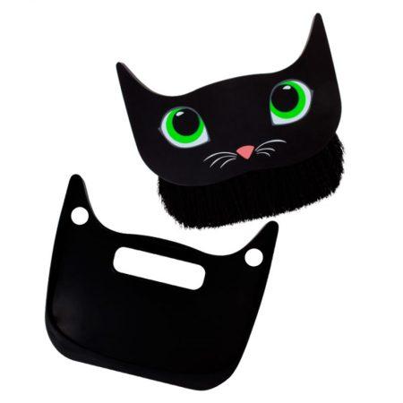 Cepillo y recogedor gato negro Pylones abierto