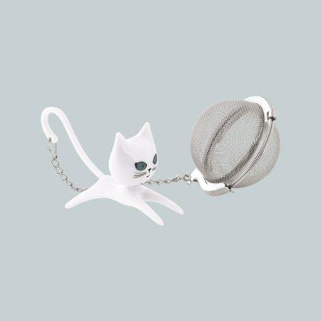 Colador de té de Gato blanco Pylones