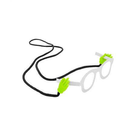 """Cordón Gafas """"manitas"""" verde pylones"""