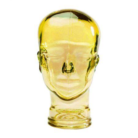 kare cabeza de de cristal de colores amarillo
