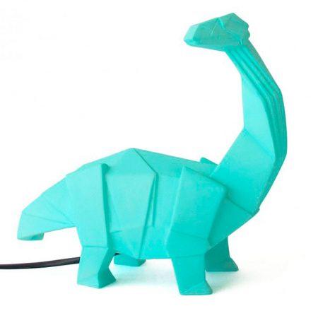 Lampara mesa dinosaurio verde origami