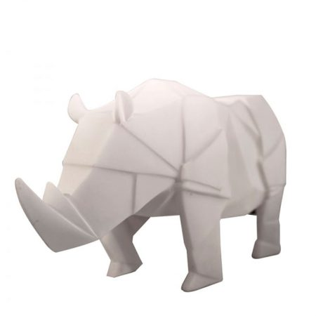 Lampara mesa rinoceronte blanco Origami original