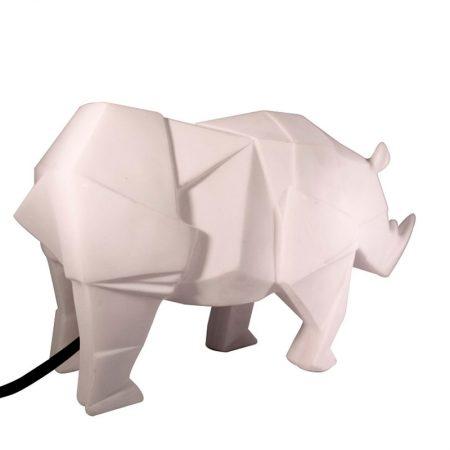 Lampara mesa Origami rinoceronte blanco back