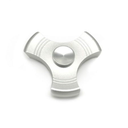 Spinner hacha metalicos Plata