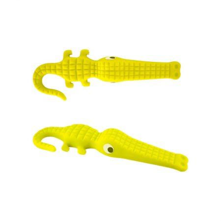 Tope puerta cocodrilo amarillo Pylones