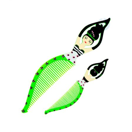 Peine Mujer verde Pylones