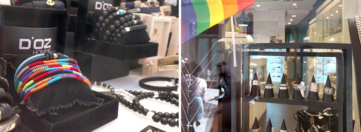 piezas diseño joyería orgullo gay doz
