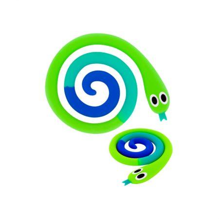 Salvamanteles serpiente azul y verde Pylones