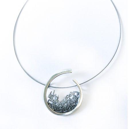 colgante plata orfega coral atlántica