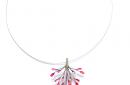colgante Orfega de plata con tonos rosa