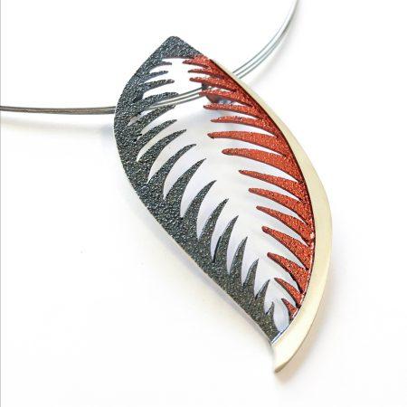 Colgante de plata Orfega trópico Rojo