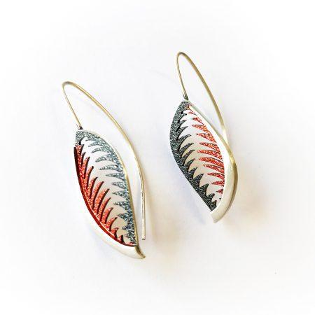 Pendiente Orfega de plata Trópico Rojo
