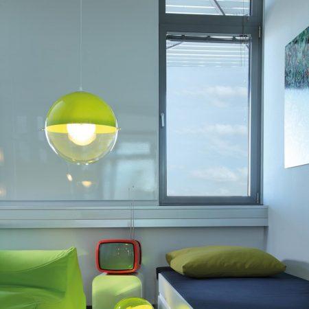 lampara orion verde habitacion
