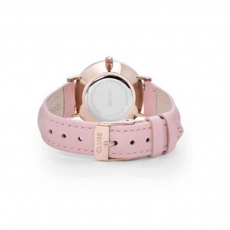 Reloj mujer Cluse Minuit Oro rosa correa piel rosa cierre