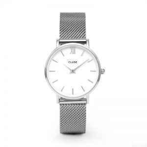 Reloj mujer Cluse Minuit plata
