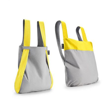 Bolsa-mochila plegable Amarilla y Gris