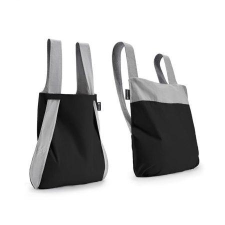 Bolsa-mochila plegable Gris y Negro