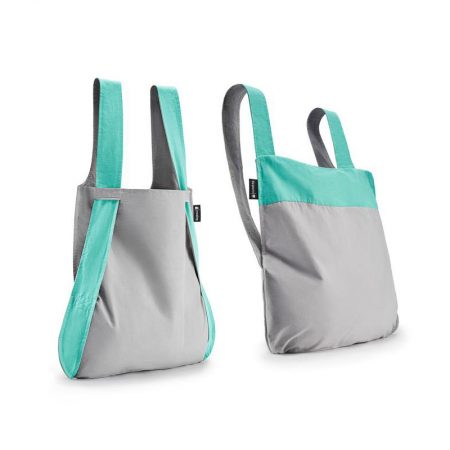 Bolsa-mochila plegable Menta y Gris