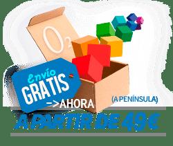 envío gratis a península desde 49 euros