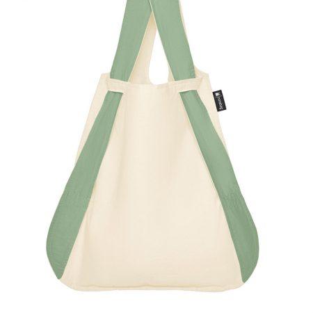 bolsa-mochila-plegable-verde-oliva-crema-bolsa