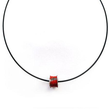 """Colgante Plata Orfega """"Ígneo"""" colección Vulcano rojo"""