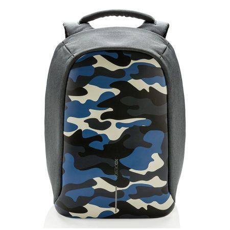 Mochila compacta antirobo Camuflaje Azul Bobby