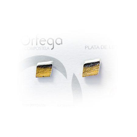 Pendientes de Plata Orfega Lava colección Vulcano dorado