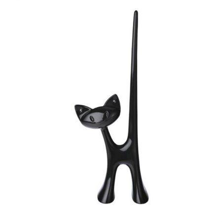 Anillero Miaou gato Negro