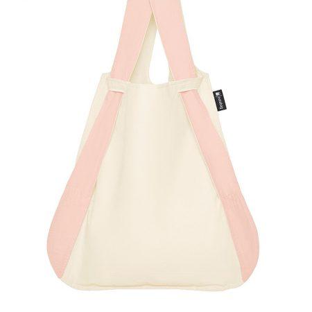 Bolsa-mochila plegable Crema y Rosa claro bolsa