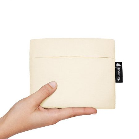 Bolsa-mochila plegable Crema y Rosa claro pocket