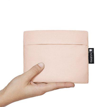 Bolsa-mochila plegable Rosa claro y Verde pocket