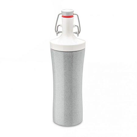 Botella de agua ecológica color blanco y gris