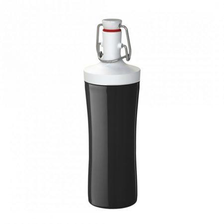 Botella de agua ecológica color blanco y negro