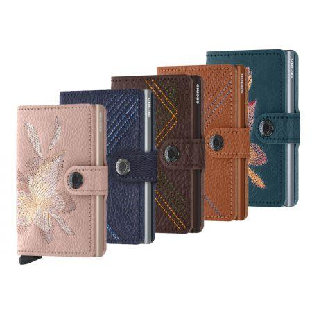 Nuevas carteras automatica-anticopia Secrid Miniwallet bordada