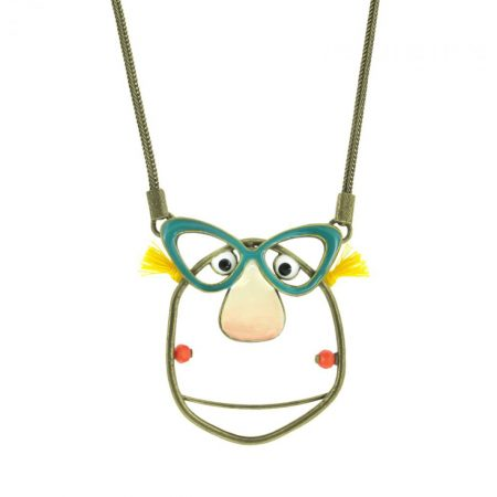 Colgante «Chica con gafas» Taratata detalle