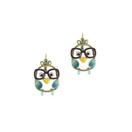 Pendientes de «Buhos con gafas» con gancho Taratata