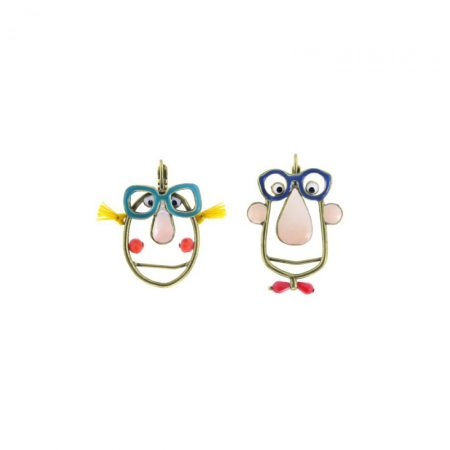 Pendientes de «Parejitas con gafas» con gancho Taratata