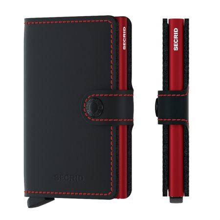Cartera SECRID Miniwallet automática anticopia MATTE Negro y Rojo