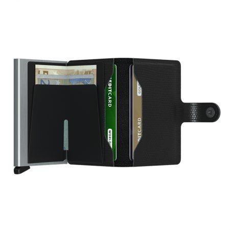 Cartera SECRID Miniwallet automática anticopia RANGO color negro abierta