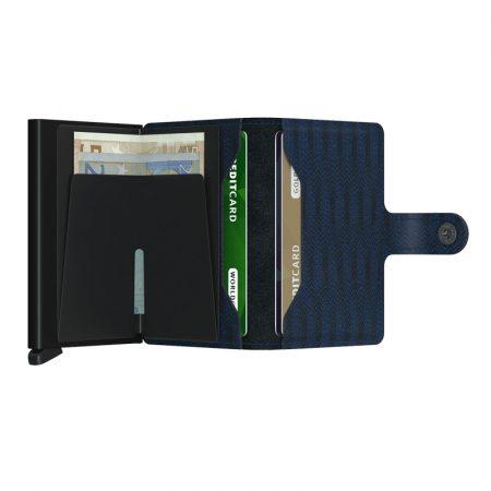 Cartera SECRID Miniwallet DASH automática anticopia Navy abierta