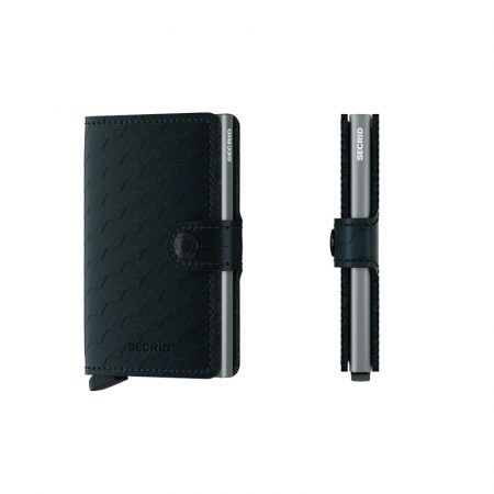 Cartera SECRID Miniwallet OPTICAL DASH automática anticopia Negro Titanio