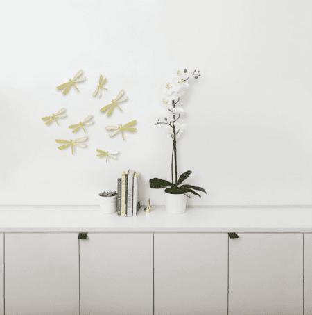 libélulas doradas Umbra con autoadhesivo wall-decor