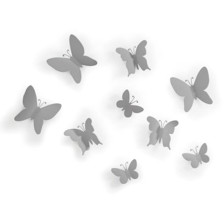 Mariposas Gris Umbra con autoadhesivo wall-decor