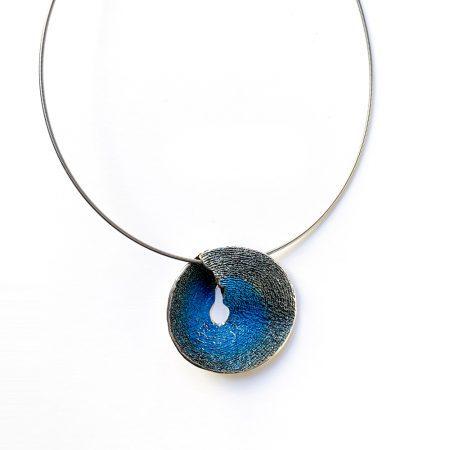 colgante de plata grande azul Sima Orfega