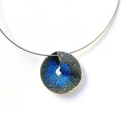 colgante de plata mediano azul Sima Orfega