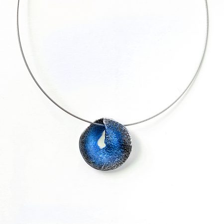 colgante de plata pequeño azul Sima Orfega